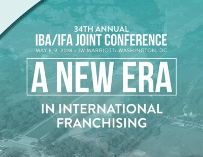 Working on the next IBA/IFA event in DC – Arbitration and International Franchising